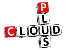 3D plus des mots croisé de nuage Image libre de droits