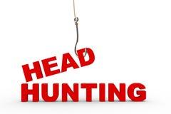 3d połowu haczyk i headhunting pojęcie ilustracji