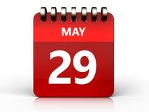 3d 29 pode calendar Foto de Stock Royalty Free