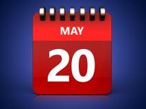 3d 20 pode calendar Fotos de Stock