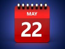3d 22 pode calendar ilustração stock