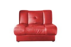 3 d podobieństwo wewnętrznej czerwona skórzana sofa Obrazy Stock