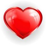 3 d podobieństwo czerwone serce odbicia Zdjęcia Royalty Free