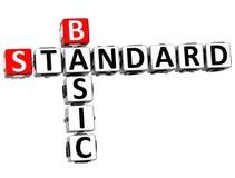 3D Podstawowego standardu Crossword Obraz Stock