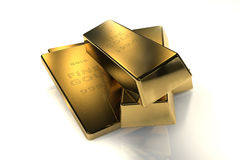 (1) 3d 9 pojęć złoto 999 barów kg Obraz Stock