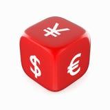 3d pojęcia dolarowej wymiany spadać stopień wzrostu Zdjęcie Stock
