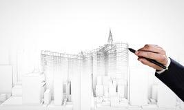 3d pojęcia inżynierii wysokość odpłaca się postanowienie Obraz Stock
