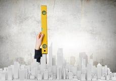 3d pojęcia inżynierii wysokość odpłaca się postanowienie Fotografia Stock