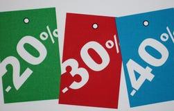 3d pojęcia wysoka procentów ilości sprzedaż Obraz Royalty Free