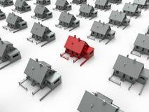 3d pojęcie dom odpłaca się cel ilustracji