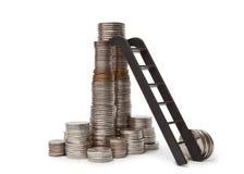 3 d pojęcia finansowego laptopa wzrostu obrazu Zdjęcie Royalty Free
