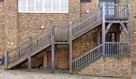 3d pojęcia ilustracyjny schodków sukces drewniany Zdjęcie Stock