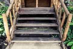 3d pojęcia ilustracyjny schodków sukces drewniany Zdjęcia Stock