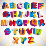 3D police, alphabet coloré psychédélique audacieux Photographie stock