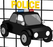 3D Police car. On a white background Stock Images