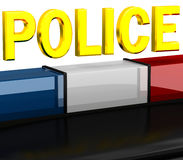 3D Police flashers Royalty Free Stock Photo