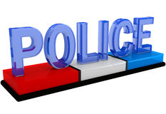 3D Police flashers Stock Image