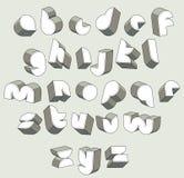 3d police futuriste, lettres dimensionnelles géométriques réglées Image libre de droits