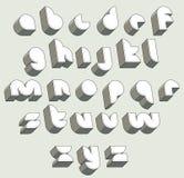 3d police futuriste, lettres tridimensionnelles géométriques réglées Images libres de droits