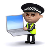 3d Police laptop Stock Image