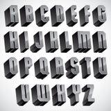 3d police, lettres tridimensionnelles géométriques réglées Photos libres de droits