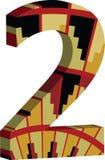 3d police numéro 2 Image libre de droits