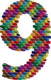 3d police numéro 9 Images libres de droits