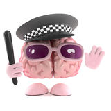 3d Police officer brain Stock Photo