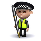 3d Police officer with a pen Royalty Free Stock Images