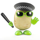 3d Police officer potato Stock Photos