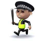 3d Police pursuit Stock Photos