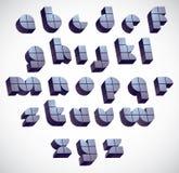 3d police ronde futuriste faite avec des blocs, dimensiona monochrome Photographie stock