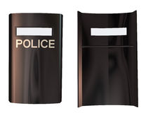 3d Police Shield Stock Photo