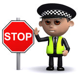 3d Police stop Stock Image