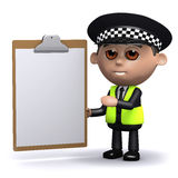3d Police survey Royalty Free Stock Photography