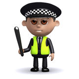 3d Police truncheon drawn Stock Photography