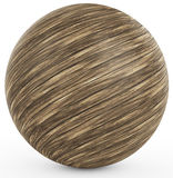3d polished wooden sphere. On white background 3D illustration Stock Photography