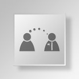 3D political speech icon Business Concept Royalty Free Stock Image
