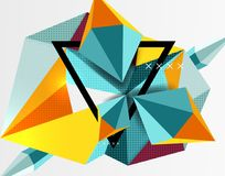 3d polygonal elements abstract background. Textured vector modern template vector illustration