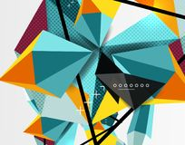 3d polygonal elements abstract background. Textured vector modern template Royalty Free Stock Photos