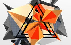 3d polygonal elements abstract background. Textured vector modern template Royalty Free Stock Image
