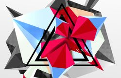 3d polygonal elements abstract background. Textured vector modern template Stock Photos