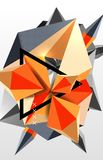 3d polygonal elements abstract background. Textured vector modern template royalty free illustration