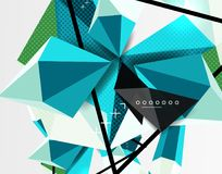 3d polygonal elements abstract background. Textured vector modern template Royalty Free Stock Images