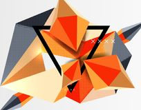 3d polygonal elements abstract background. Textured vector modern template stock illustration