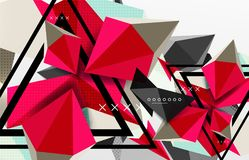 3d polygonal elements abstract background. Textured vector modern template Stock Photo