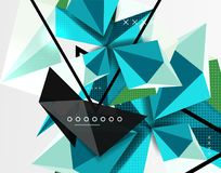 3d polygonal elements abstract background. Textured vector modern template Stock Images
