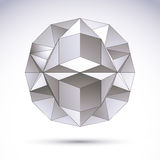 3D polygonal geometric object, vector abstract design. Element, clear eps 8 Royalty Free Illustration