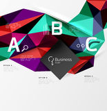 3d polygonal object triangles, abstract background Royalty Free Stock Photo