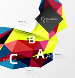 3d polygonal object triangles, abstract background Stock Photography